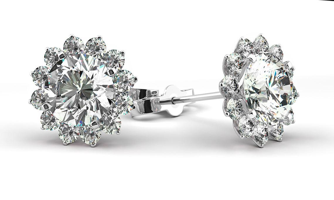 Красота серег с бриллиантами. Серьги с бриллиантами